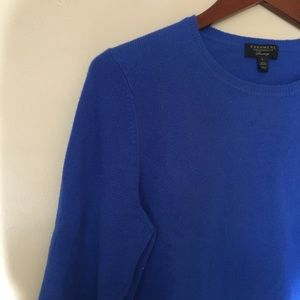 Charter Club blue cashmere crew neck sweater large